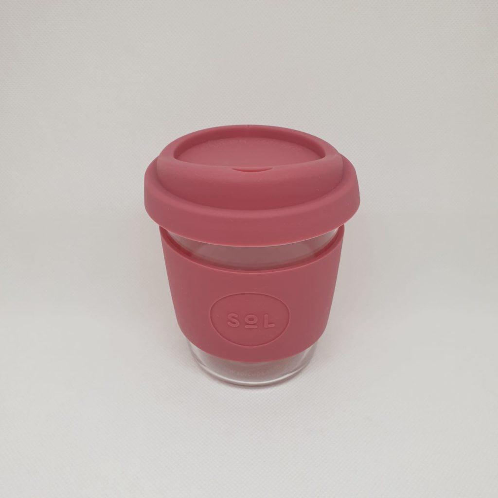 Vaso de vidrio para café – Rosa