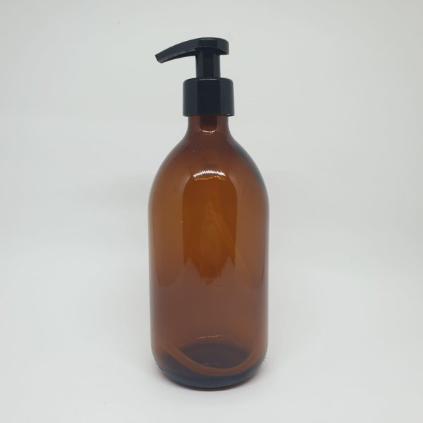 botella-cristal-ambar-dispensador-500ml