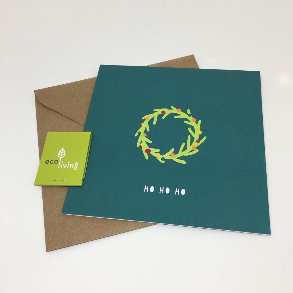 tarjeta-navideña-reciclada--ho-ho-ho