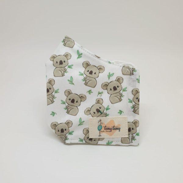 Mascarilla de tela reutilizable lavable niños 3-6 años koalas