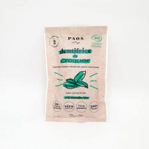Dentifrico zero waste tabletas Paos